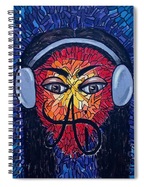 Frequencial - Abstract Art Music Painting - Ai P.nilson Spiral Notebook