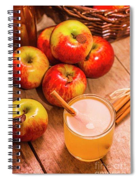 Fresh Apple Juice With Cinnamon Spiral Notebook