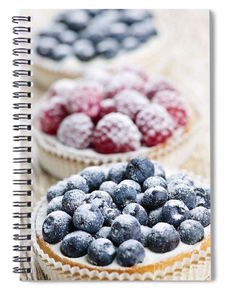 Fresh Berry Tarts Spiral Notebook