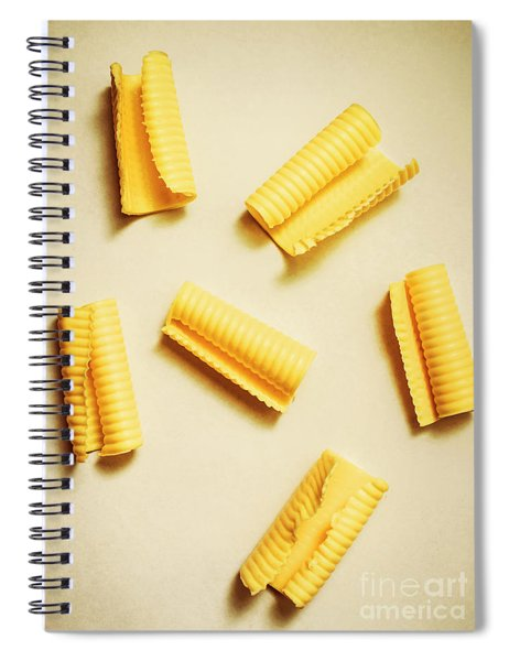 Fresh Butter Curls On Table Spiral Notebook