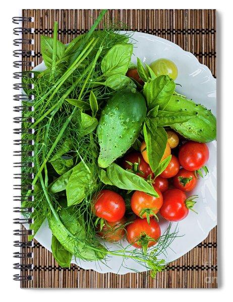 Fresh Garden Vegetables Spiral Notebook