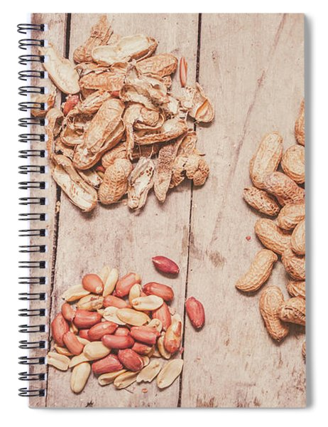 Fresh Peanuts, Shells, Raw Nuts And Peanut Butter Spiral Notebook