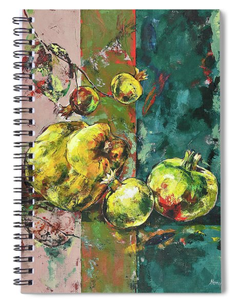 Fresh Quince And Pomegranate Spiral Notebook