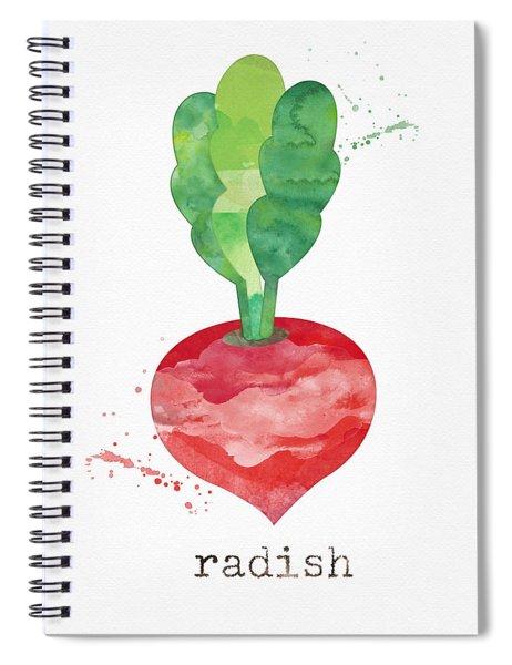 Fresh Radish Spiral Notebook