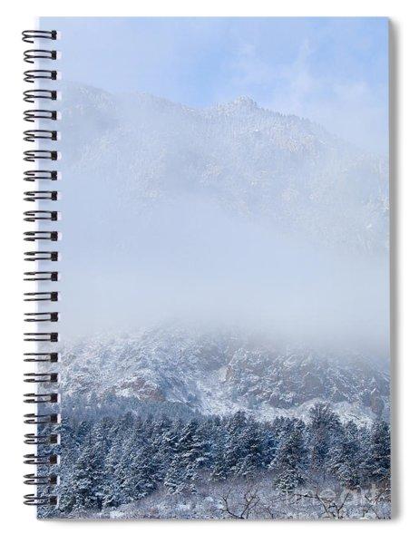 Fresh Snow In Cheyenne Mountain State Park Spiral Notebook