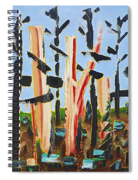 Fried Bacon Trees Spiral Notebook
