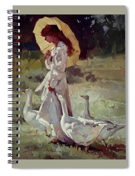 Friendly Flock Spiral Notebook