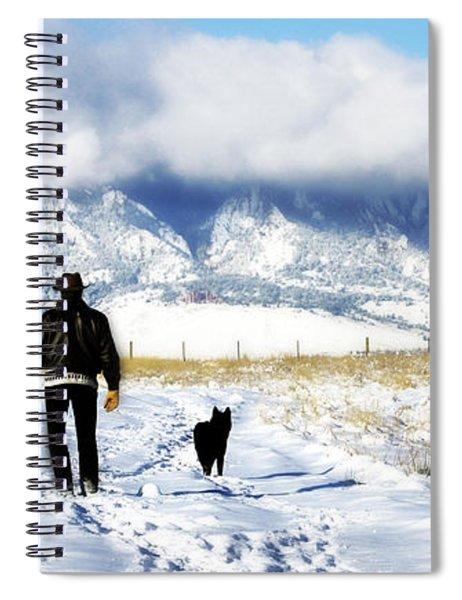 Friends On A Walk Spiral Notebook