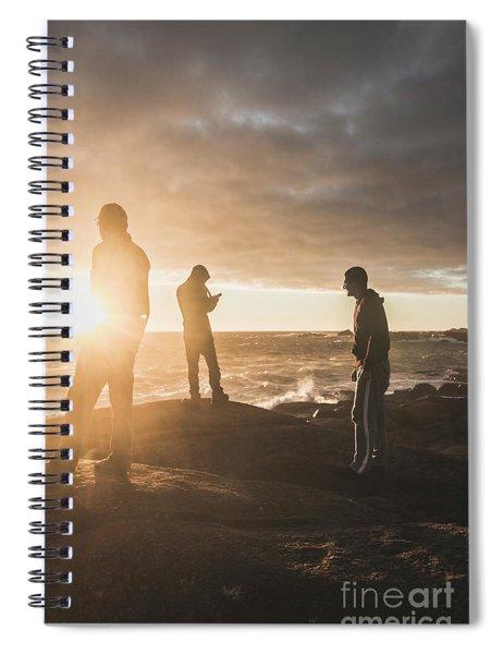 Friends On Sunset Spiral Notebook