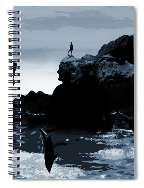 Friends With Dolphins Spiral Notebook