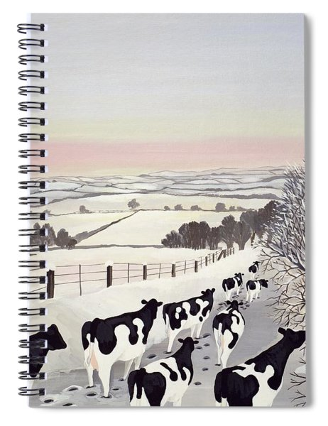 Friesians In Winter Spiral Notebook