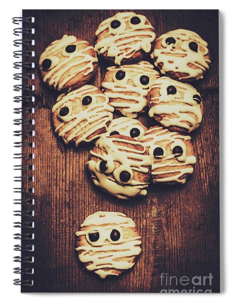 Fright Night Party Baking Spiral Notebook