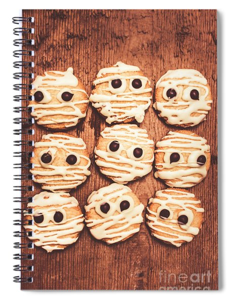 Frightened Mummy Baked Biscuits Spiral Notebook