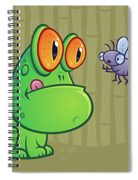 Frog And Dragonfly Spiral Notebook