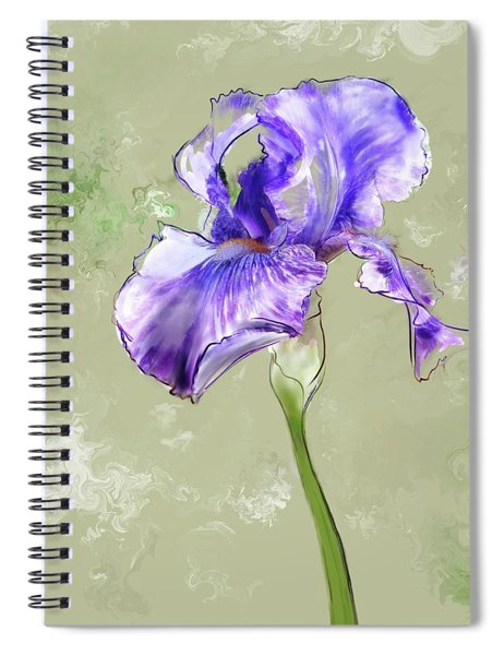 Spiral Notebook featuring the digital art From Charlotte's Garden by Gina Harrison