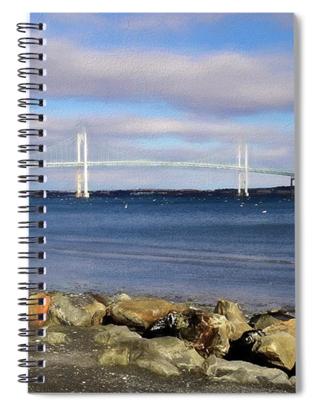 From The Shores Of Jamestown Spiral Notebook