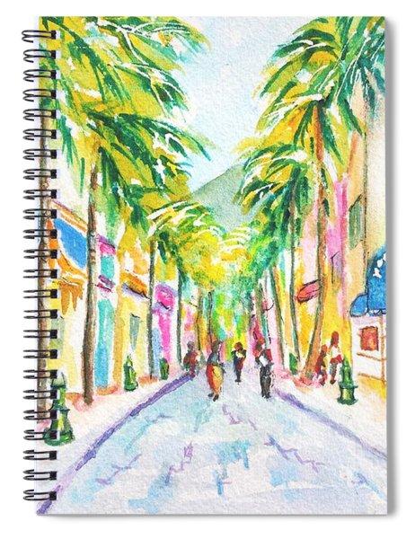 Front Street Philipsburg St. Maarten  Spiral Notebook