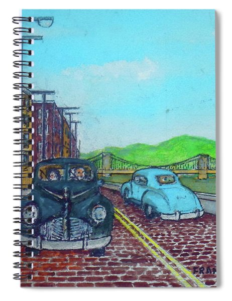 Front Street Portsmouh Ohio 1948 Before The Flood Wall Was In Place Spiral Notebook