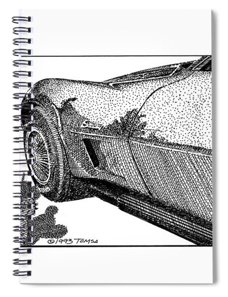 Front Wheel And Cactus Study - Art By Bill Tomsa Spiral Notebook
