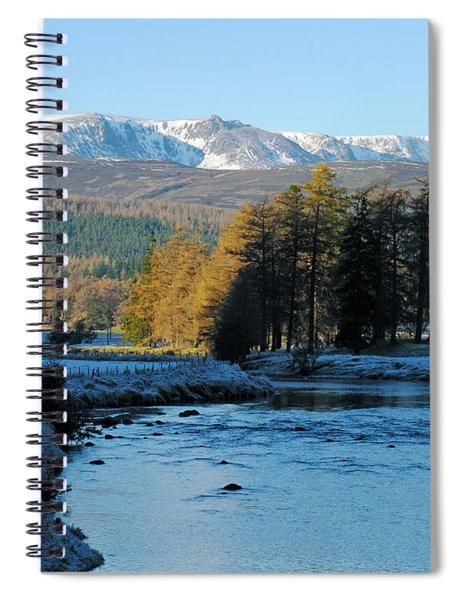 Frost In The Glen - Invercauld Spiral Notebook