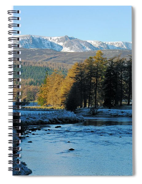 Frost In The Glen - Invercauld Spiral Notebook