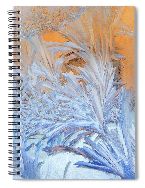Frost Patterns On Window Spiral Notebook