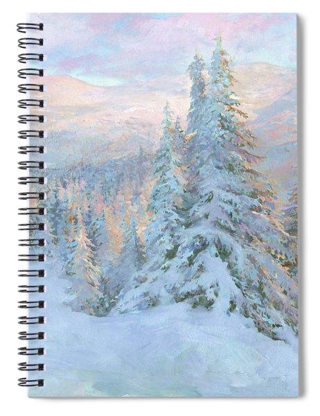 Frosty Evening Spiral Notebook