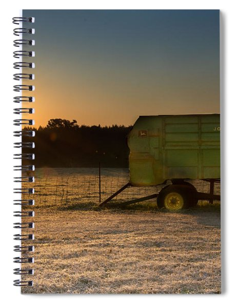 Frosty John Deere Sunrise Spiral Notebook