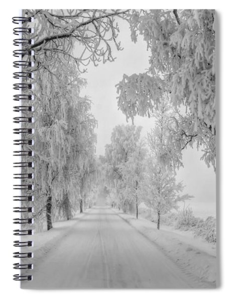 Frosty Winter Morning Spiral Notebook