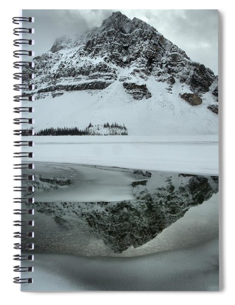 Frozen And Foggy At Bow Lake Spiral Notebook