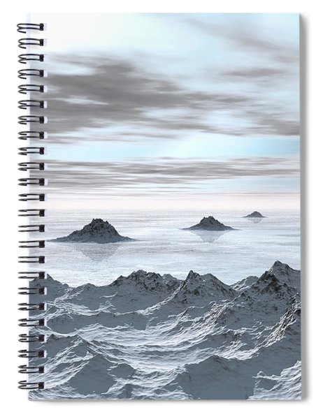 Frozen Arctic Sea Spiral Notebook