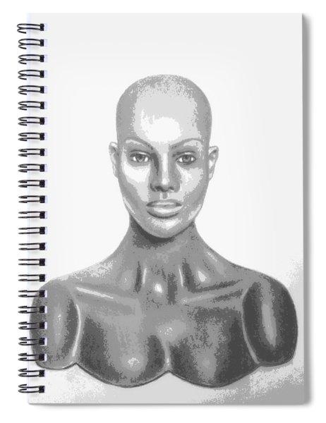 Bald Superficial Woman Mannequin Art Drawing  Spiral Notebook
