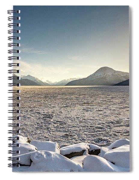 Frozen Fjord Sunrise Spiral Notebook