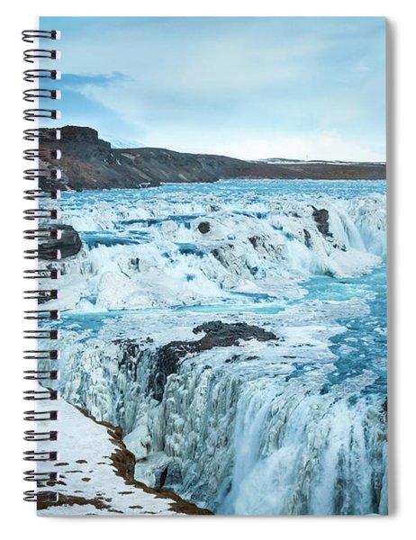 Frozen Gullfoss Spiral Notebook