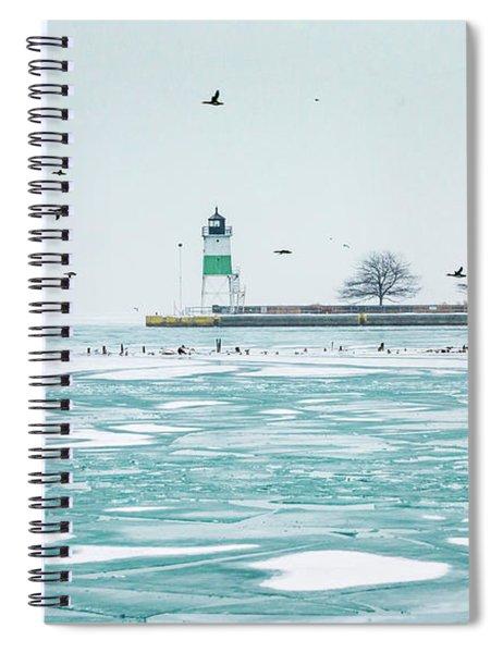 Frozen In Chicago Spiral Notebook