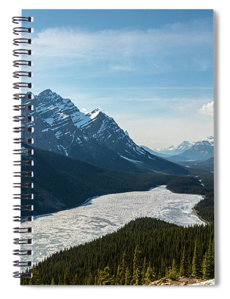 Frozen Peyto Lake Spiral Notebook