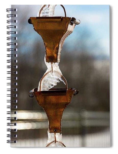 Frozen Rain Chains Spiral Notebook