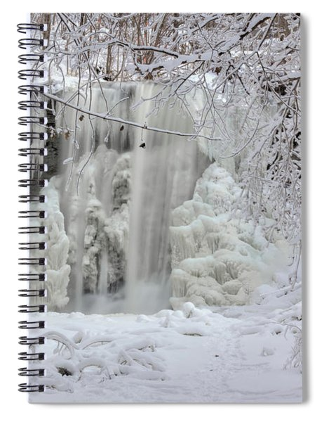 Spiral Notebook featuring the photograph Frozen by Rod Best