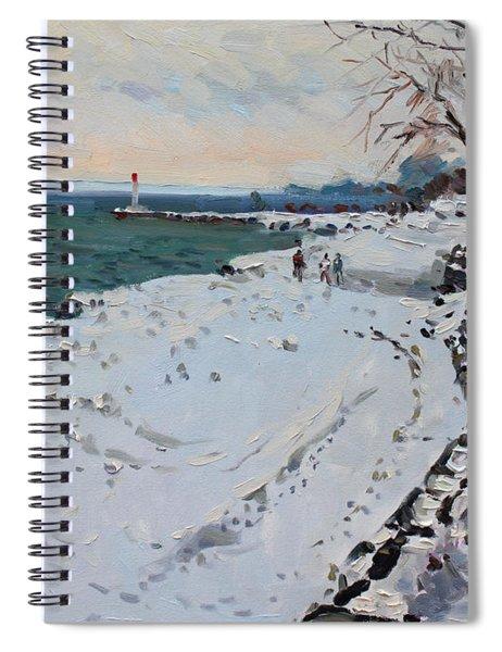 Frozen Shore In Oakville On Spiral Notebook