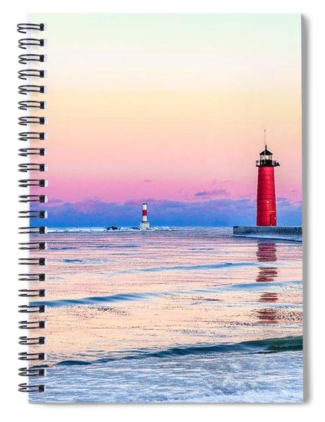 Frozen Sunset Spiral Notebook