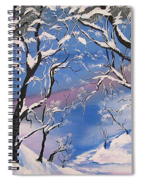 Frozen Tranquility  Spiral Notebook