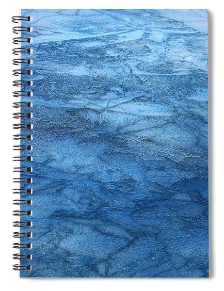 Frozen Water Blue Abstract Spiral Notebook