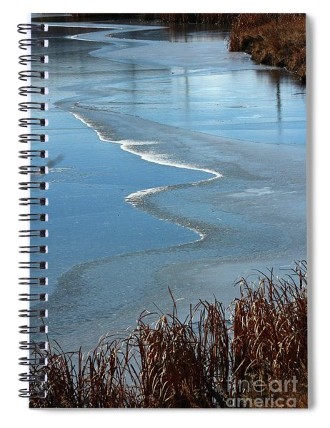 Frozen Waves Spiral Notebook