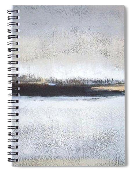Frozen Winter Lake Spiral Notebook