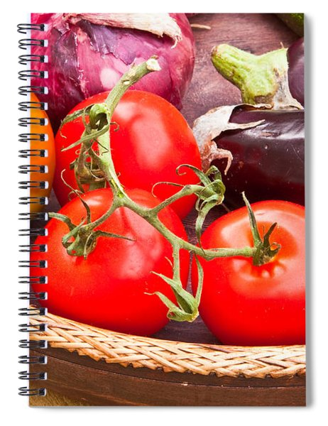 Fruit And Vegetables Spiral Notebook