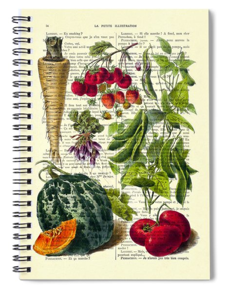Fruits And Vegetables Kitchen Decoration Spiral Notebook
