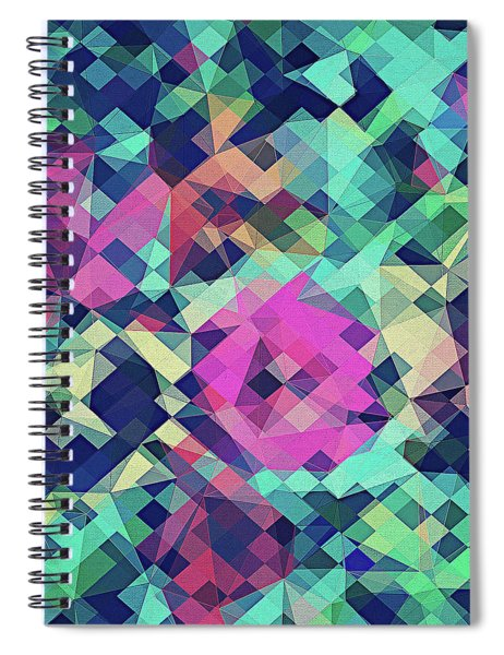 Fruity Rose   Fancy Colorful Abstraction Pattern Design  Green Pink Blue  Spiral Notebook