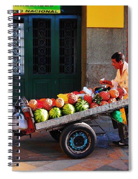 Fruta Limpia Spiral Notebook