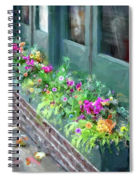 Full Bloom At The Market Spiral Notebook