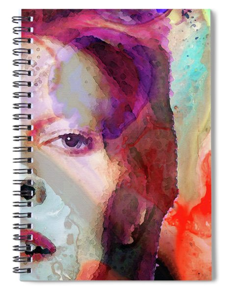 Full Color - David Bowie Tribute  Spiral Notebook